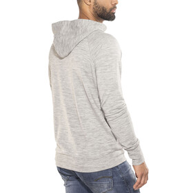 super.natural M's Essential Hoodie Zip Ash Melange
